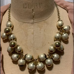 J.Crew Pearl Cluster Statement Necklace